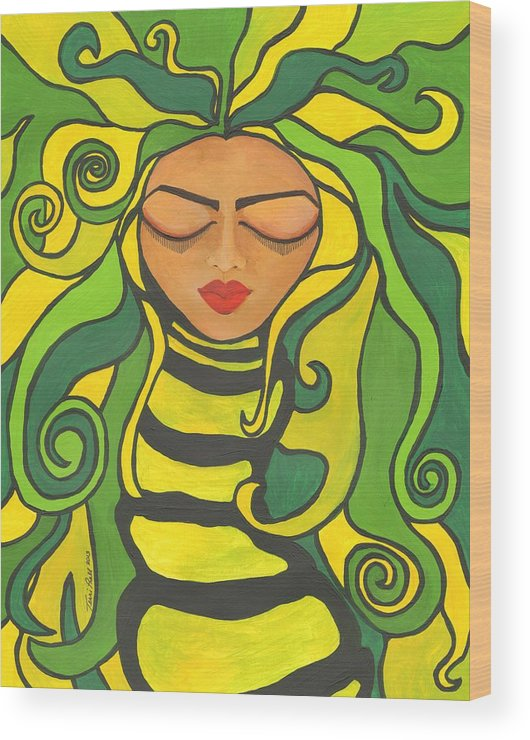 Green Wood Print featuring the painting Going Green by Terri Prall