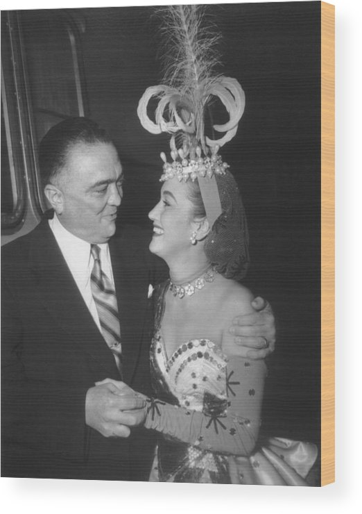 History Wood Print featuring the photograph J. Edgar Hoover And Actress Dorothy by Everett
