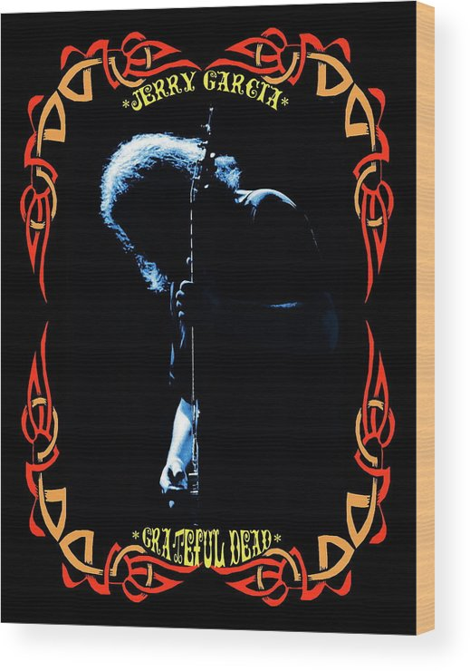 Grateful Dead Wood Print featuring the photograph J G Of The G D by Ben Upham