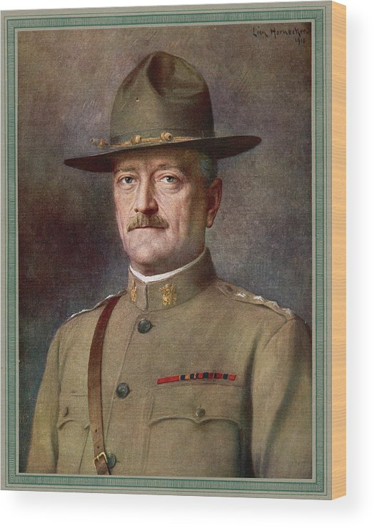 Pershing Wood Print featuring the drawing John Joseph Pershing  Nicknamed Black by Mary Evans Picture Library