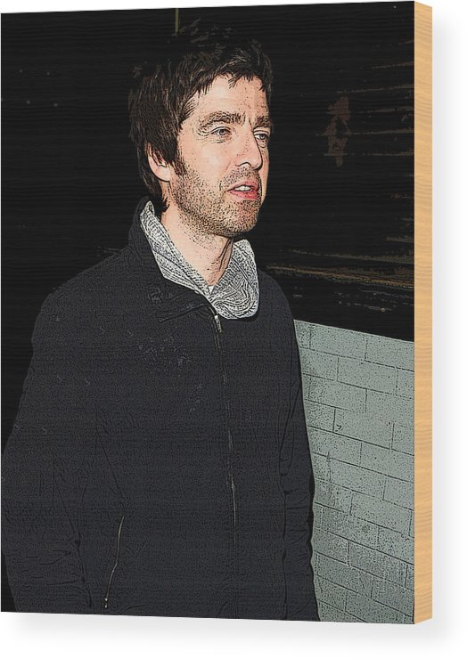Cigarette Wood Print featuring the photograph Oasis's Noel Gallagher by Paul Sutcliffe