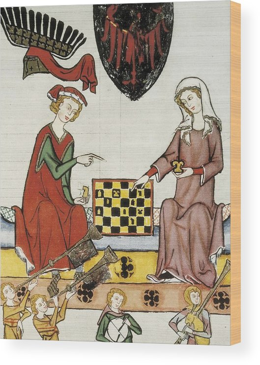 Vertical Wood Print featuring the photograph Otto Iv Of Brandenburg Playing Chess by Everett