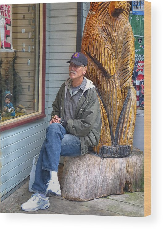 Juneau Wood Print featuring the photograph Patience by Lois Johnson