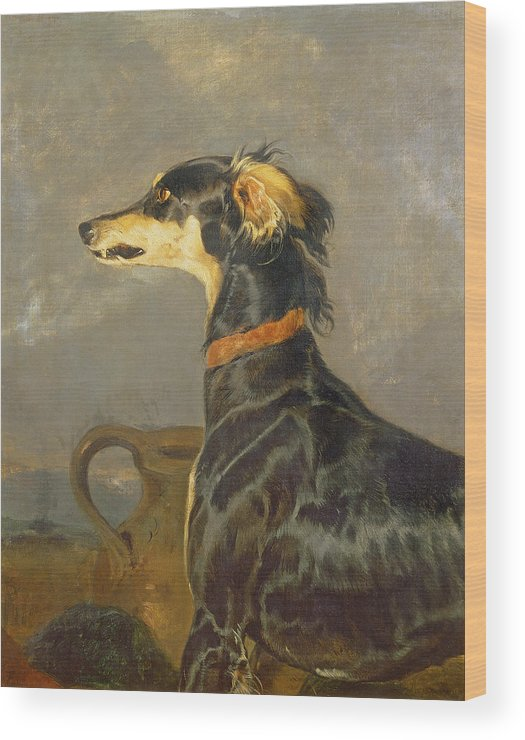 Pet Wood Print featuring the painting Queen Victorias Favourite Dog, Eos by Sir Edwin Landseer