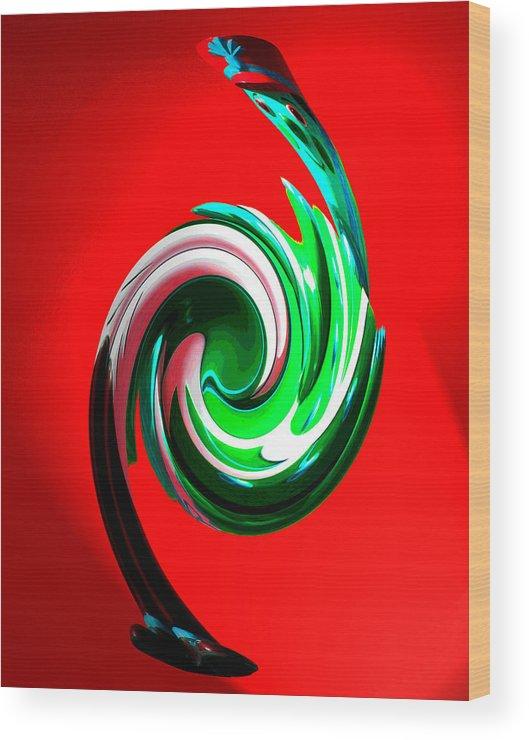 Creative Wood Print featuring the digital art Soldier Swan by David Murphy