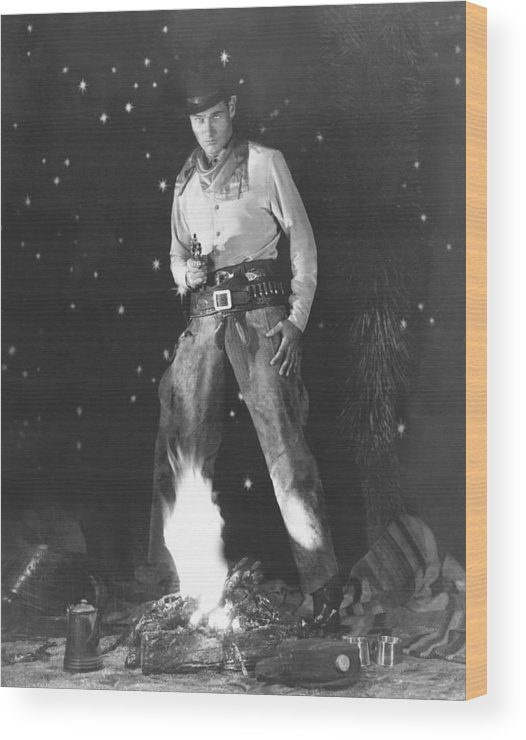 1930 Movies Wood Print featuring the photograph The Light Of Western Stars, Richard by Everett