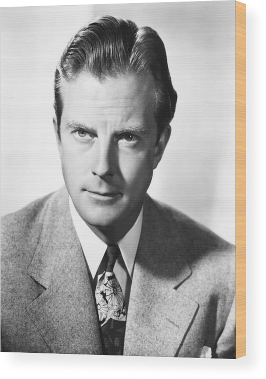 1940s Portrait Wood Print featuring the photograph William Lundigan, Rko Portrait, Circa by Everett