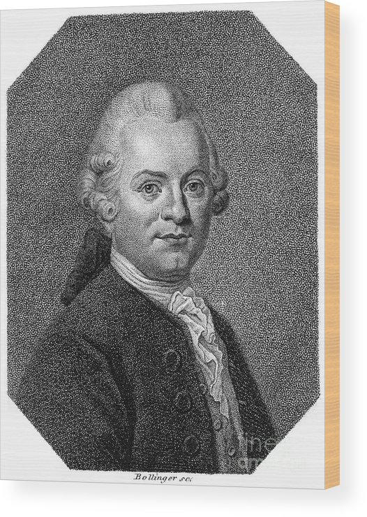 18th Century Wood Print featuring the photograph Gotthold Ephraim Lessing by Granger