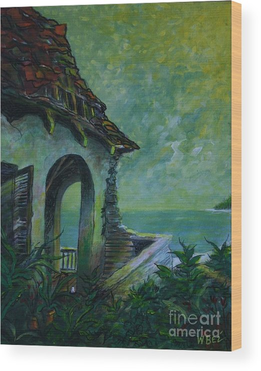 Island Art Wood Print featuring the painting A Place In The Sun by William Bezik