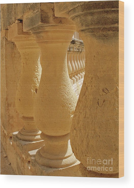 Limestone Wood Print featuring the photograph Ancient Railing by Denise Wilkins