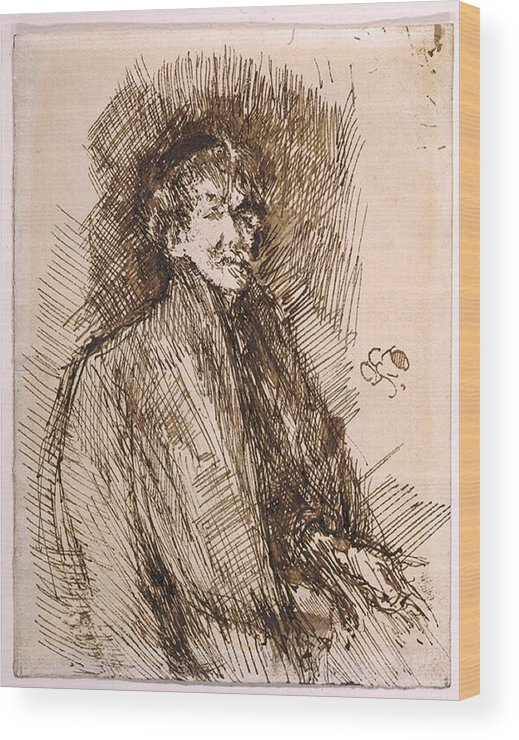 History Wood Print featuring the photograph James Mcneill Whistler 1834-1903 by Everett
