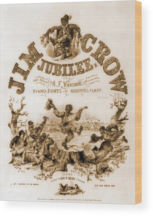 History Wood Print featuring the photograph Sheet Music Cover Titled, Jim Crow by Everett
