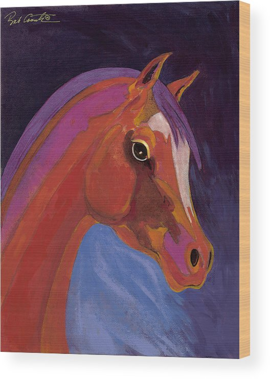 Horse Painting Wood Print featuring the painting Splendor by Bob Coonts