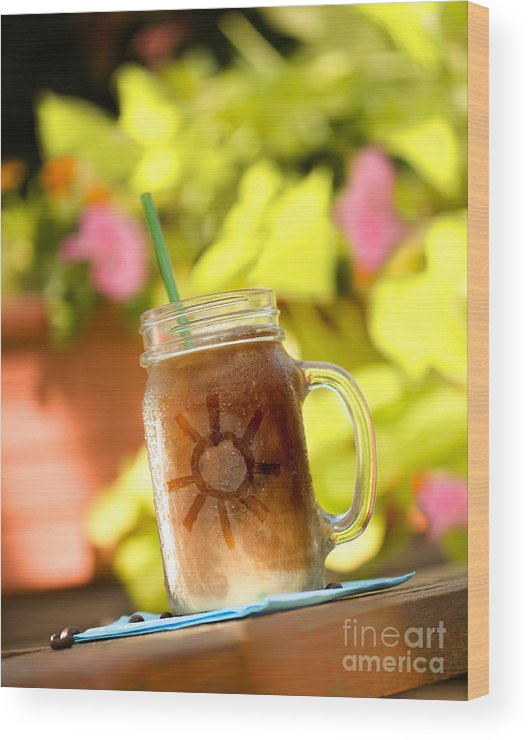 Iced Coffee Wood Print featuring the photograph Sunny Iced Coffee by Bill Krzyzanowski