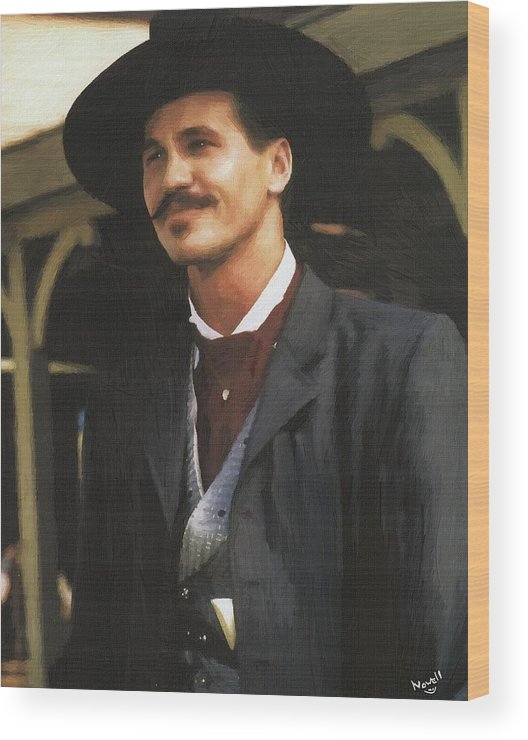Doc Holliday Tombstone Wood Print By Peter Nowell