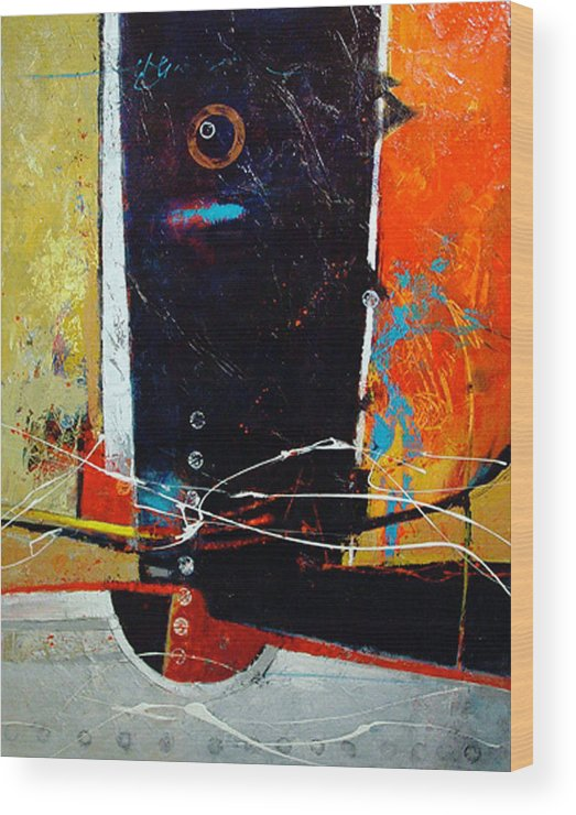 Abstract Wood Print featuring the painting Observatory by Dale Witherow