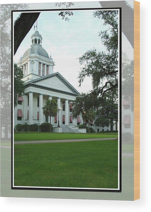 Color Photograph Wood Print featuring the photograph Old State Capitol by Wayne Denmark