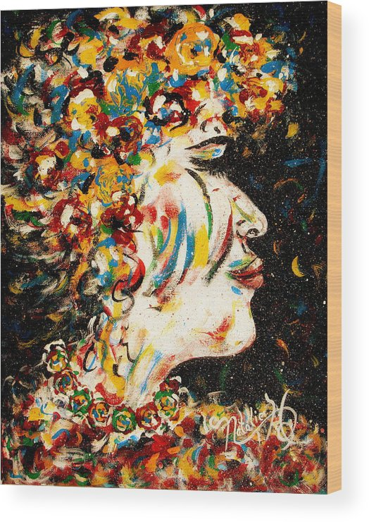 Woman Wood Print featuring the painting Absolutely Not by Natalie Holland