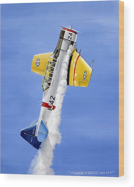 Military Wood Print featuring the painting Air Show by Marc Stewart