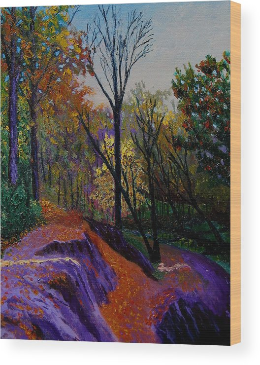 Evenign Wood Print featuring the painting Alla Prima In October by Stan Hamilton