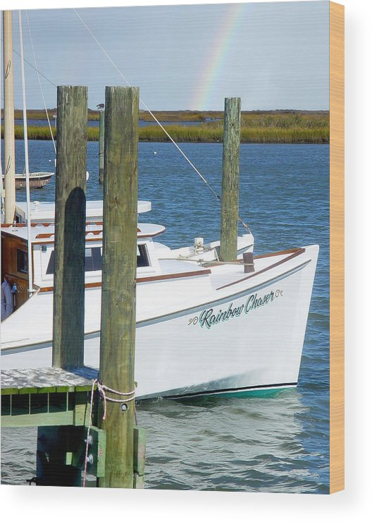 Boat Wood Print featuring the photograph Always Chasing Rainbows by Sharon Crawford