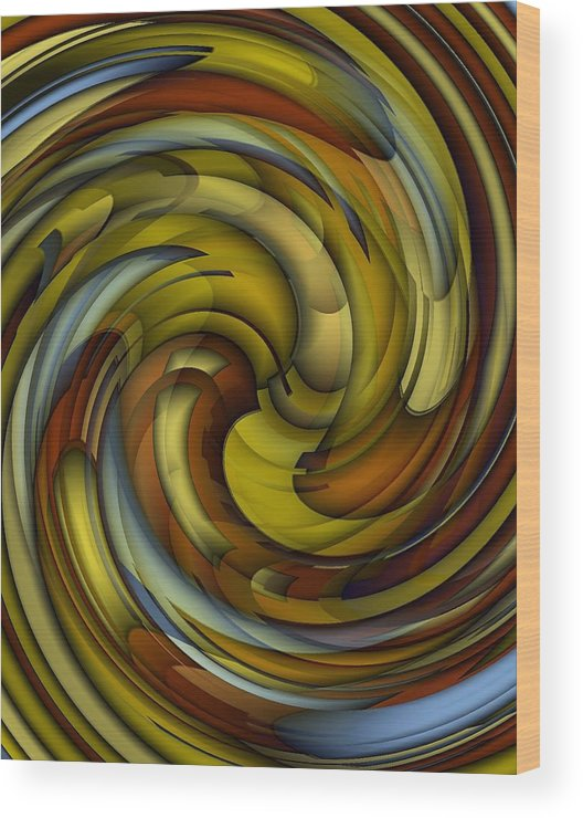 Abstract Wood Print featuring the digital art An Amazing Capture by Terry Mulligan