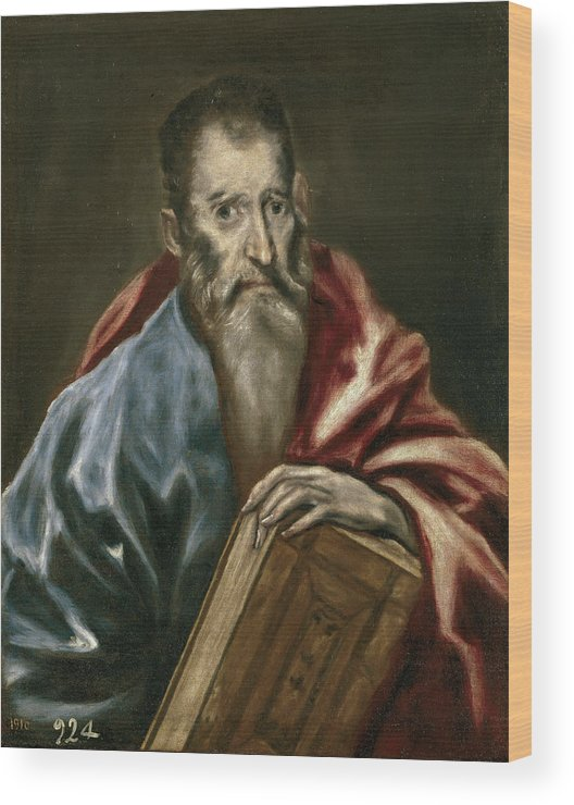 Apostle Wood Print featuring the painting Apostle by El Greco