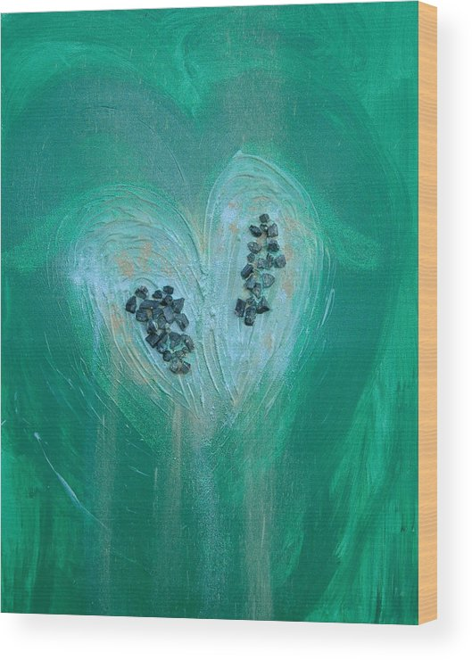 Angels Wood Print featuring the painting Archangel Raphael by Emerald GreenForest