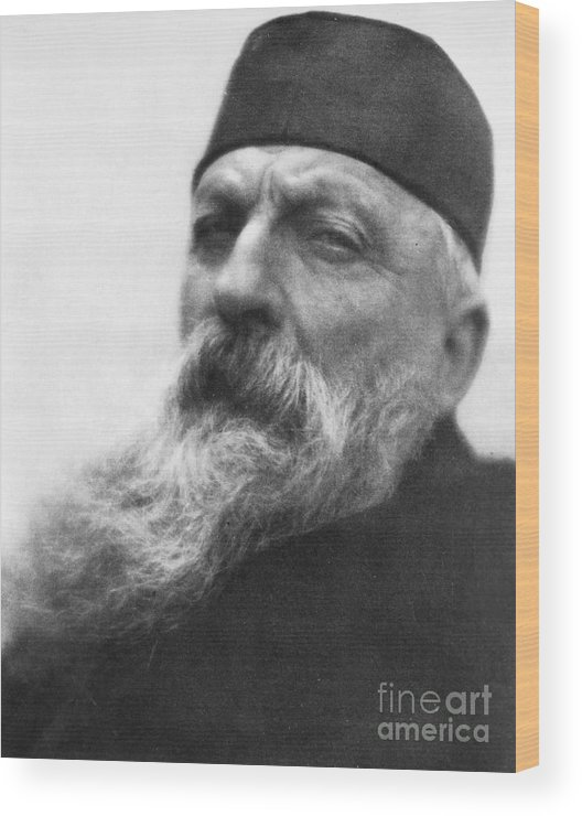 1906 Wood Print featuring the photograph Auguste Rodin (1840-1917) by Granger