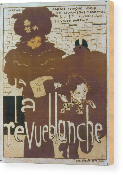 1894 Wood Print featuring the photograph Bonnard Revue 1894 by Granger