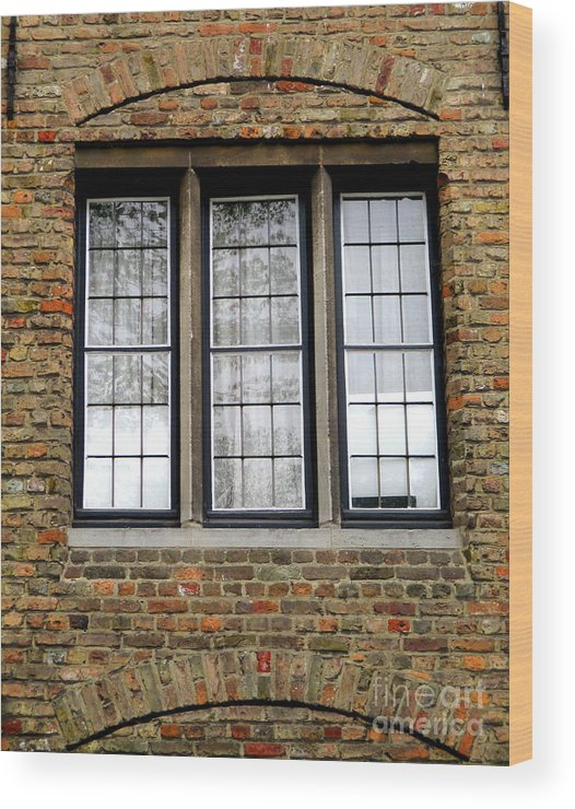 Bruges Wood Print featuring the photograph Bruges Window 3 by Randall Weidner