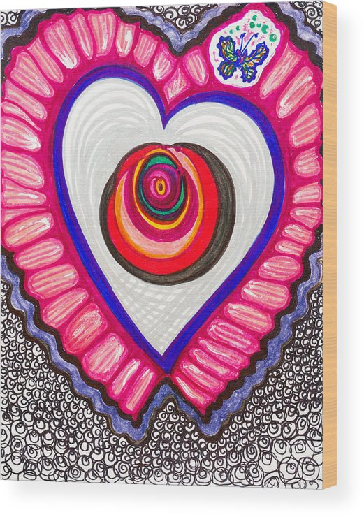 Heart Wood Print featuring the painting Celebration - Viii by Laurel Rosenberg
