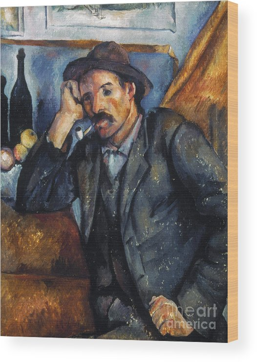 1900 Wood Print featuring the photograph Cezanne: Pipe Smoker, 1900 by Granger