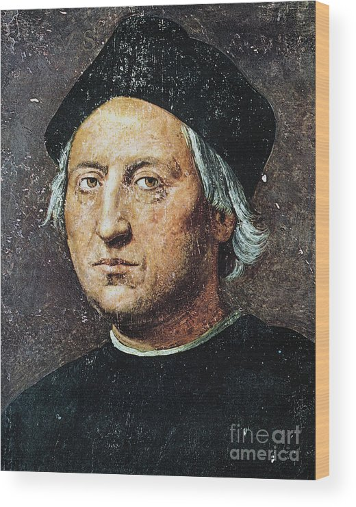 15th Century Wood Print featuring the painting Christopher Columbus by Granger