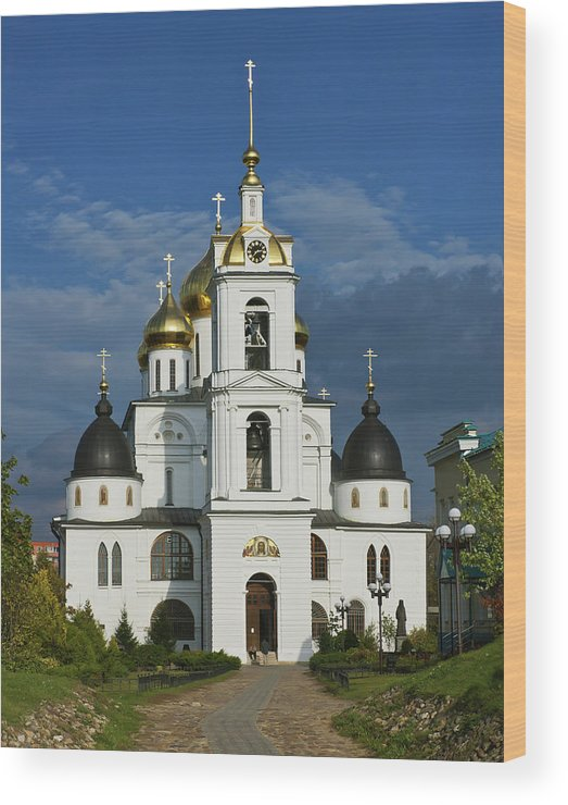 Cathedral Wood Print featuring the photograph Dmitrov. Assumption Cathedral. by Alexander Lobanov