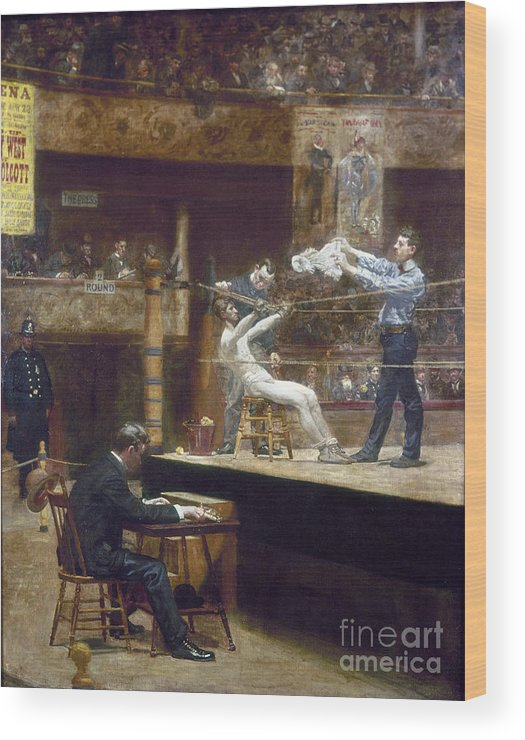 1899 Wood Print featuring the photograph Eakins: Between Rounds by Granger