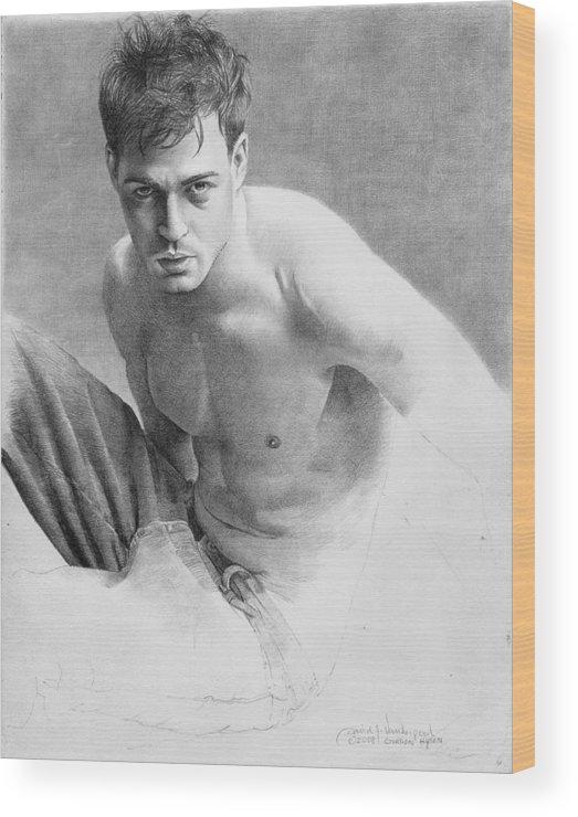 Vanderpool Wood Print featuring the drawing Gordon Hysen by David Vanderpool