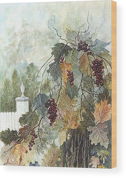 Fruit Wood Print featuring the painting Grapevine Topiary by Ben Kiger