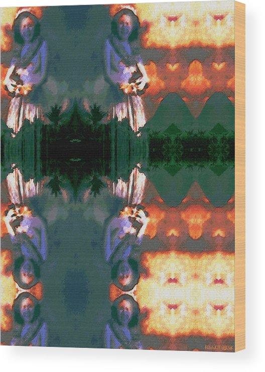 Rainbow Colors Digital Wood Print featuring the photograph Haili Moe by Kenneth Grzesik