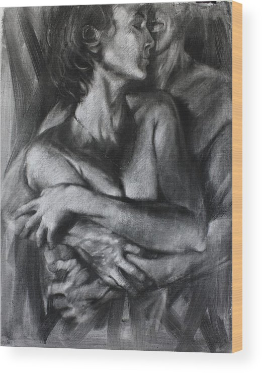 Figure Drawing Wood Print featuring the painting Handle With Care by Pauline Adair