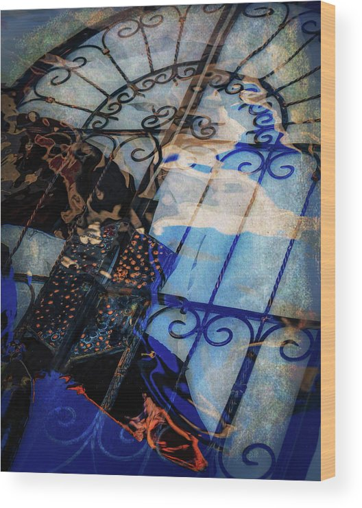 Iron Gate Wood Print featuring the photograph Iron Gate Abstract by Mike Penney