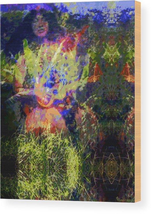 Rainbow Colors Digital Wood Print featuring the photograph Kihapai O Ekena by Kenneth Grzesik