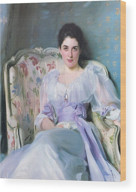 John Singer Sargent (american Wood Print featuring the painting Lady Agnew by John Singer Sargent