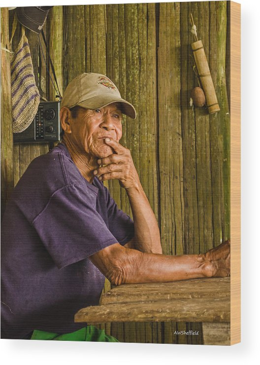 Peru Wood Print featuring the photograph Man Of The House by Allen Sheffield