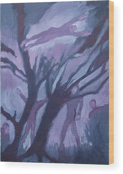 Acrylic Wood Print featuring the painting Mid-winter Dream Of Flight by Robert Bissett