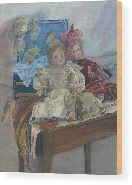 Pastel Wood Print featuring the painting Mlle. Pinchon by Miriam A Kilmer