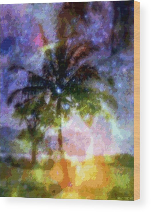Tropical Interior Design Wood Print featuring the photograph Mystic Palm by Kenneth Grzesik
