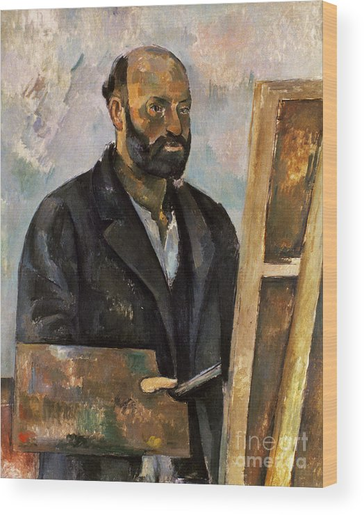 1885 Wood Print featuring the photograph Paul Cezanne (1839-1906) by Granger
