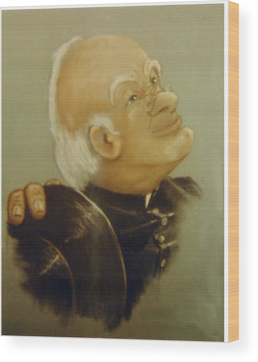 Preacher Wood Print featuring the painting Preacher by Winifred Ann Weishampel