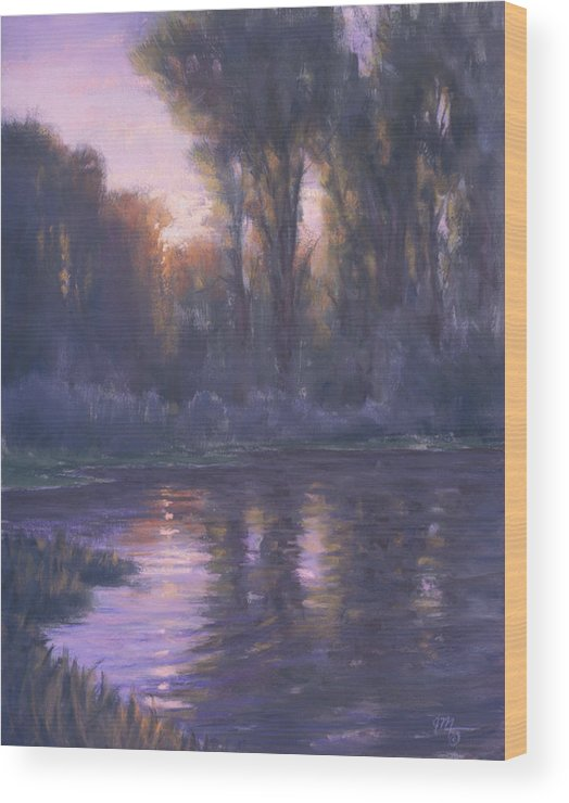 Romantic Light Wood Print featuring the painting River Of Light by Joe Mancuso